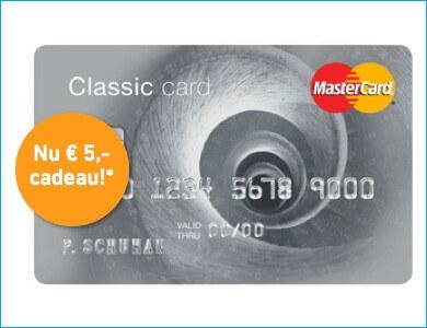 MC prepaid creditcard zonder bkr toets