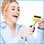 Creditcard doorknippen
