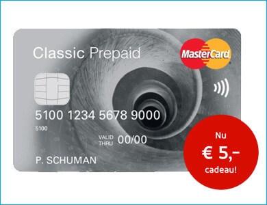 MasterCard Prepaid Creditcard