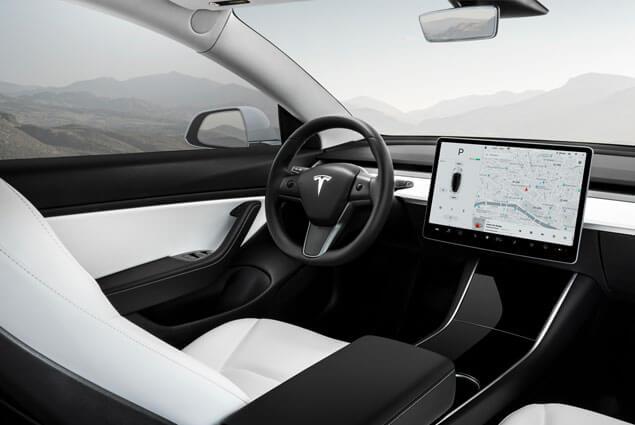 Tesla Model 3 binnenkant