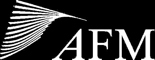 AFM logo wit