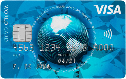 Visa via international card services