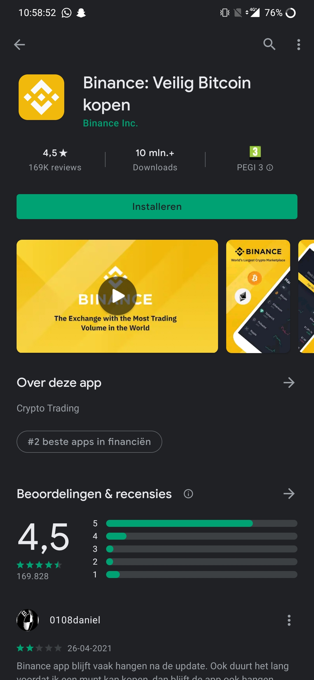 Binance review - Binance app
