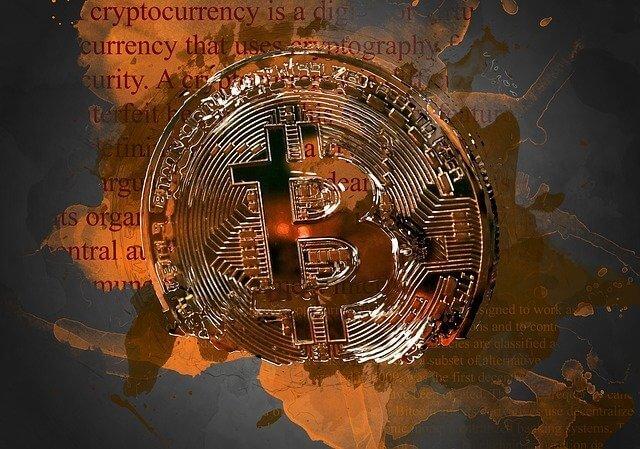Bitcoin antieke kunst geld grafiek