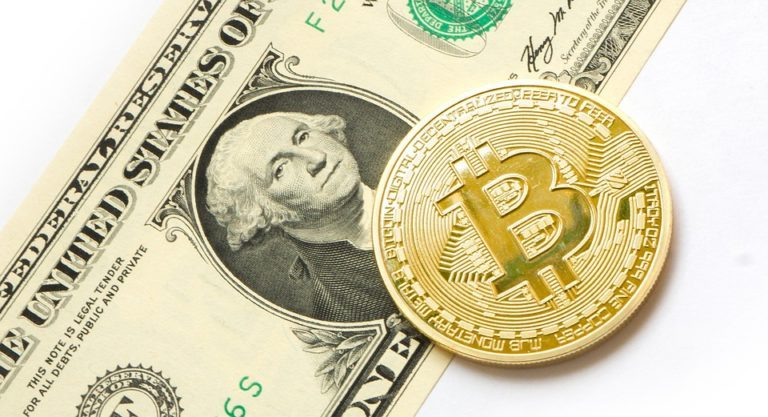 Bitcoin munden en dollar