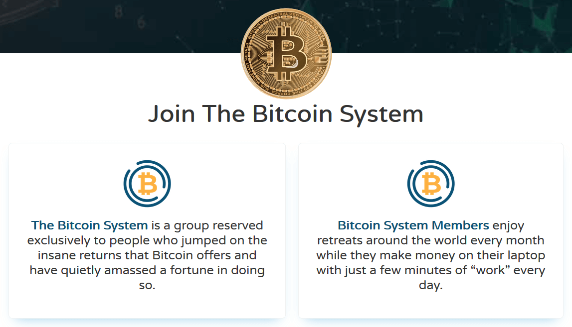 Handelsplatform interface Bitcoin System