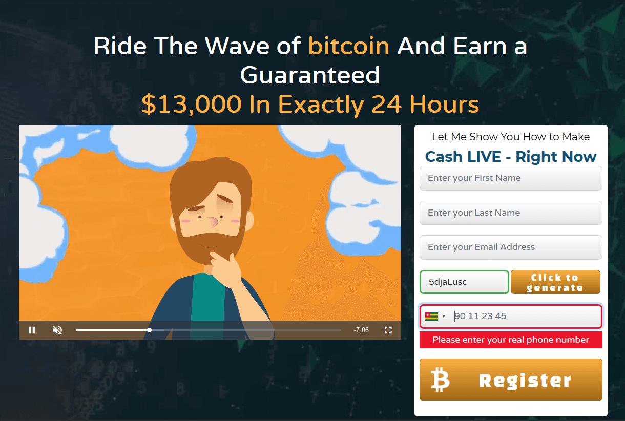 Bitcoin System app startpagina