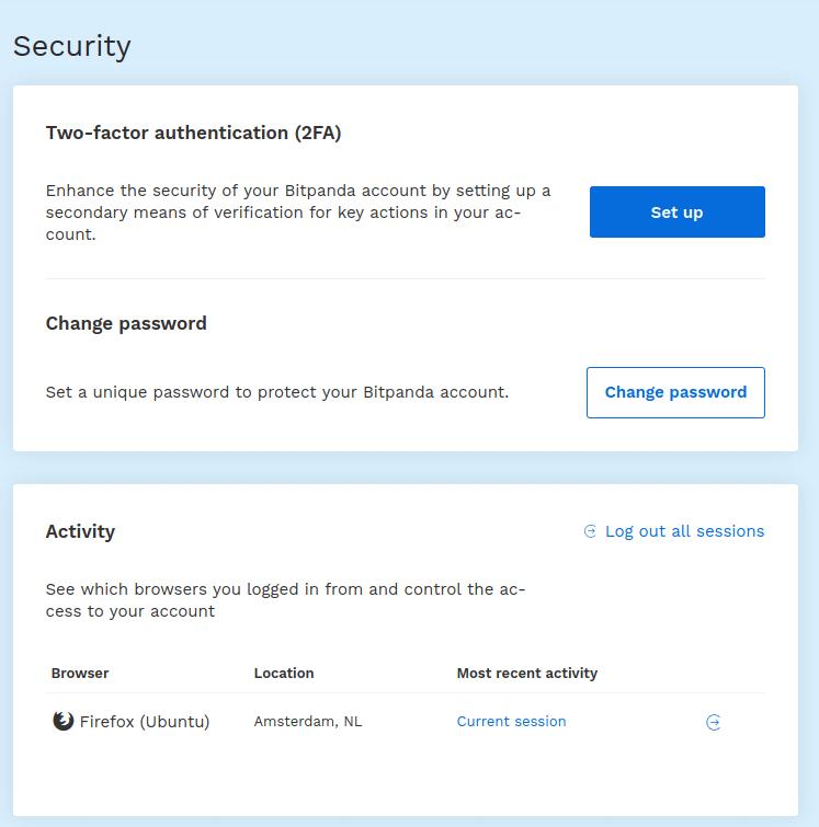 bitpanda two factor authentication
