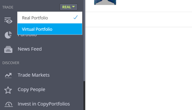 Tips voor beleggen screenshot eToro