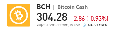 BCH bitcoin cash ticker