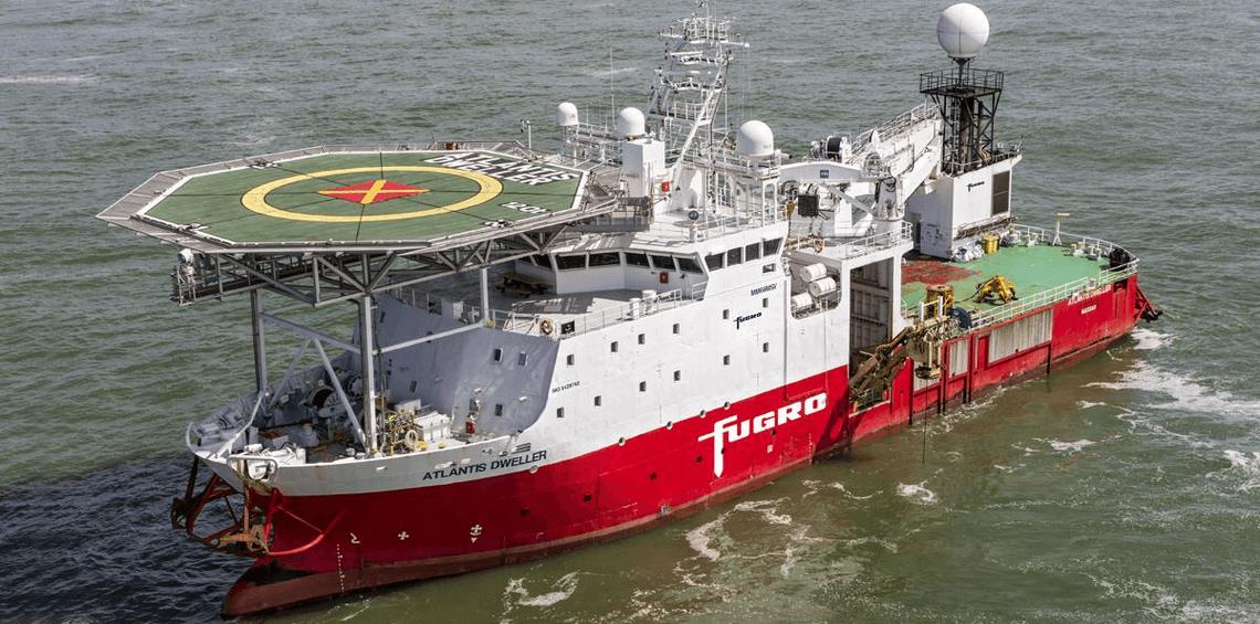 Aandeel Fugro Atlantis dweller schip