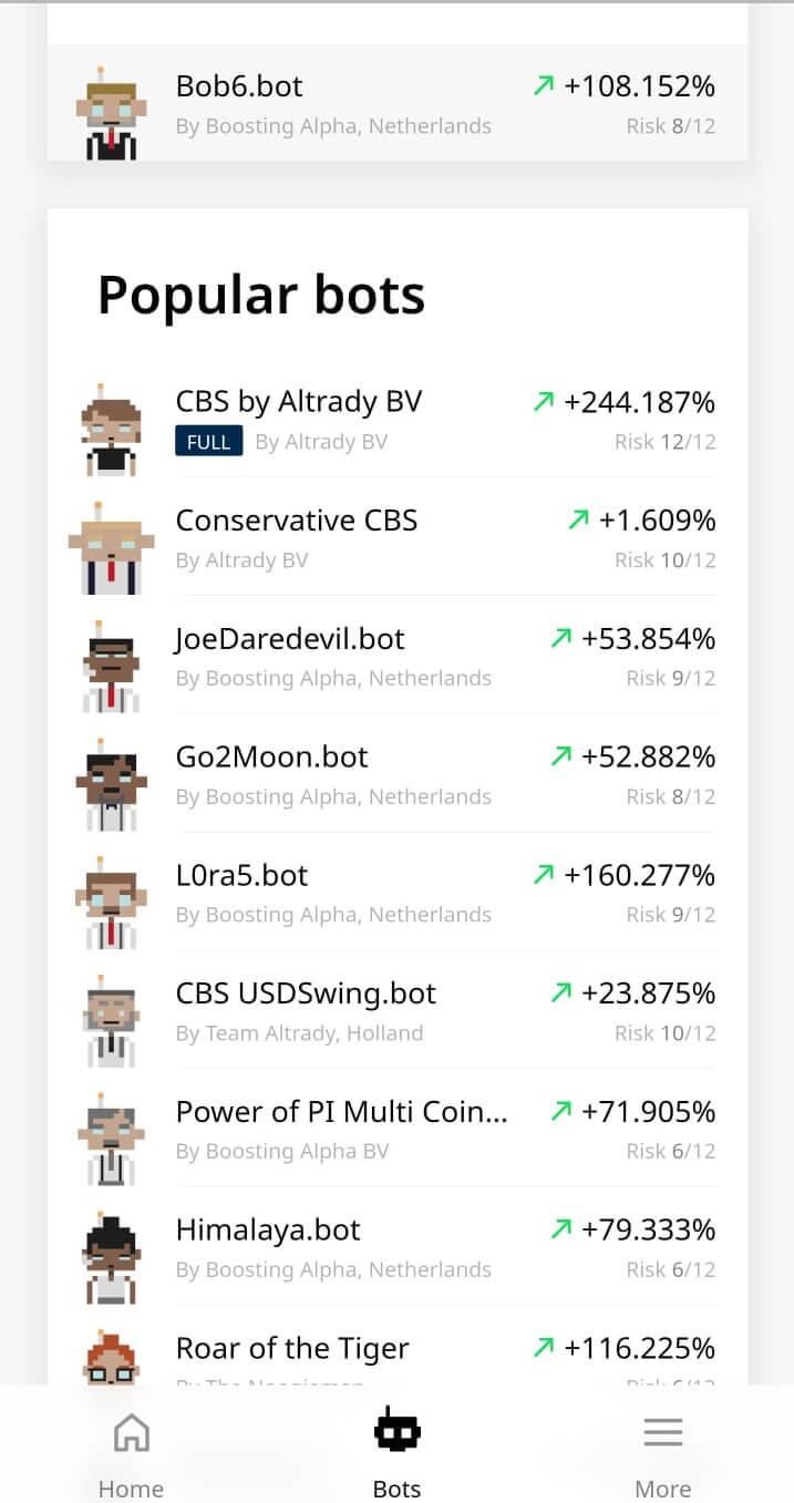 bots trading beleggen