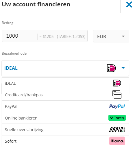 Account financieren eurostoxx 50