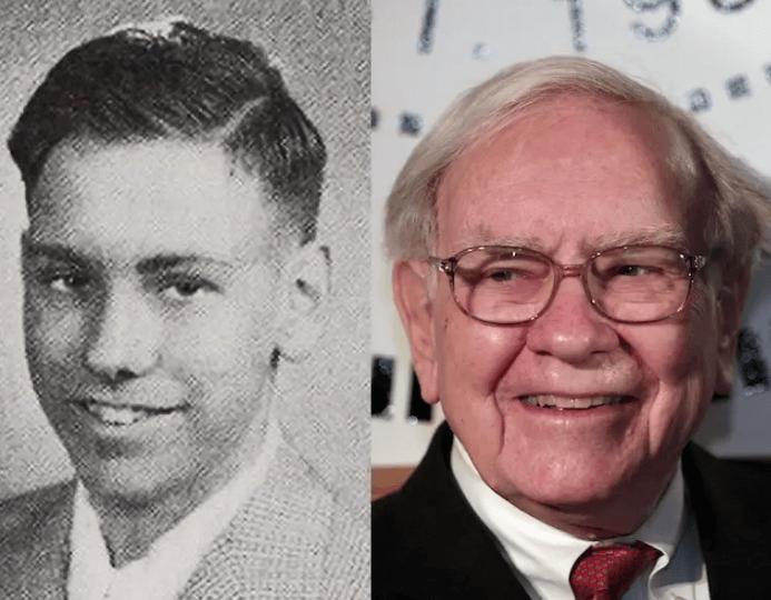 Warren Buffett jong en oud