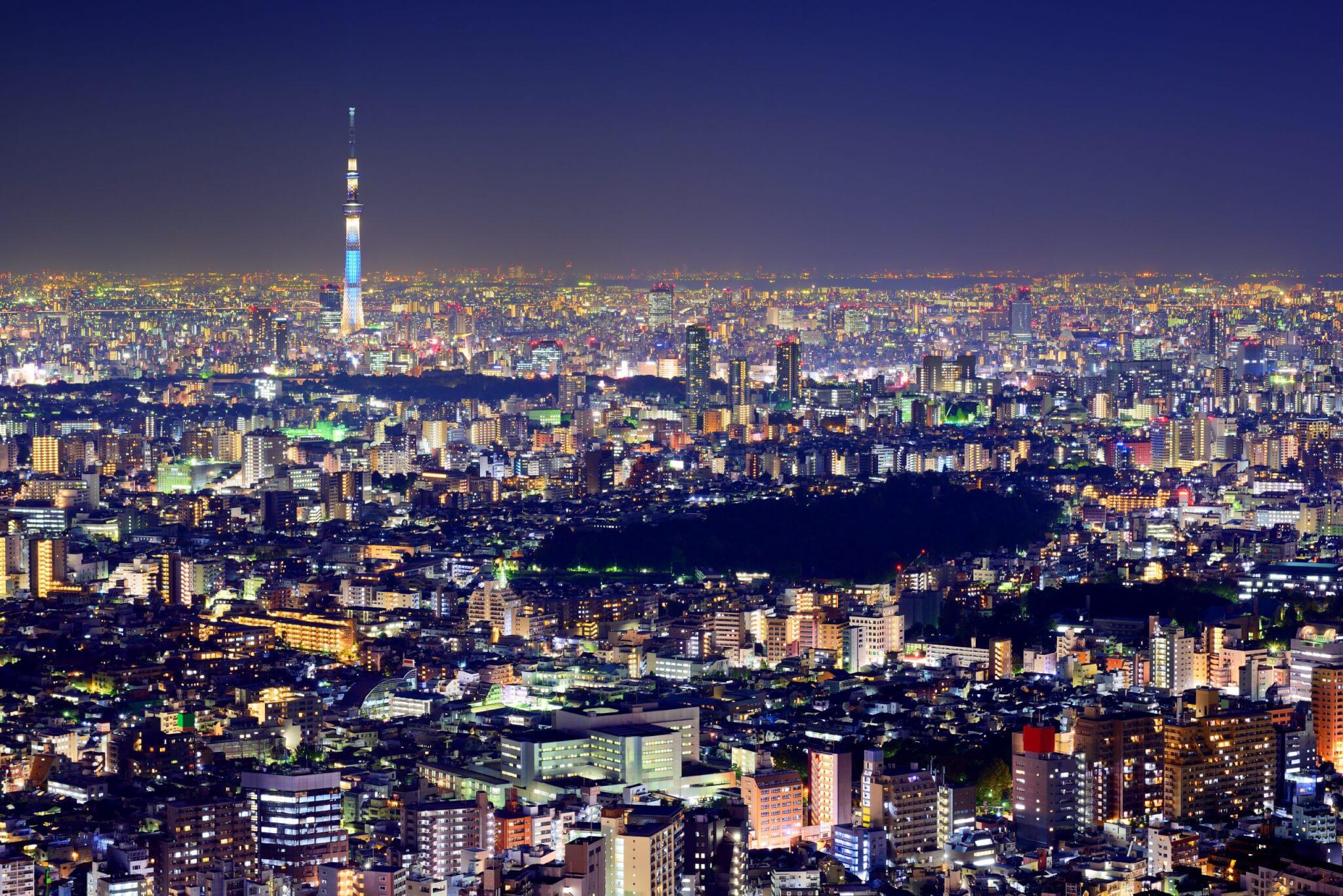 Tokyo stad van de Nikkei 225 index