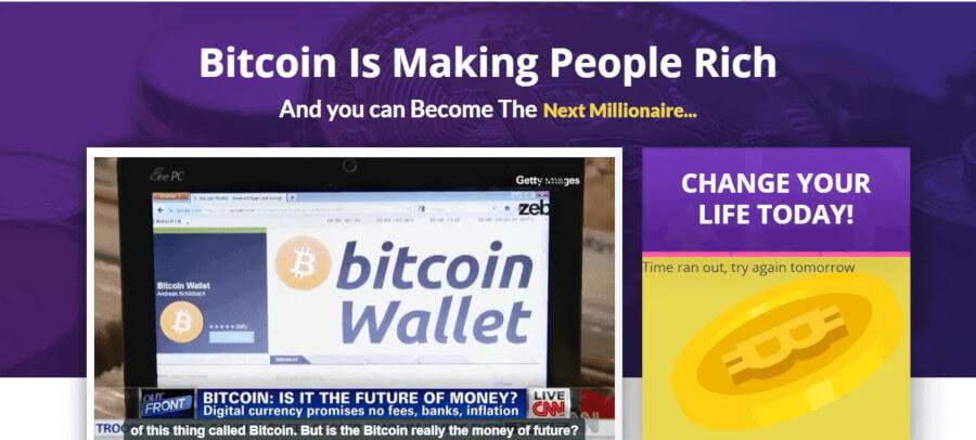 Startpagina van Bitcoin Fortress