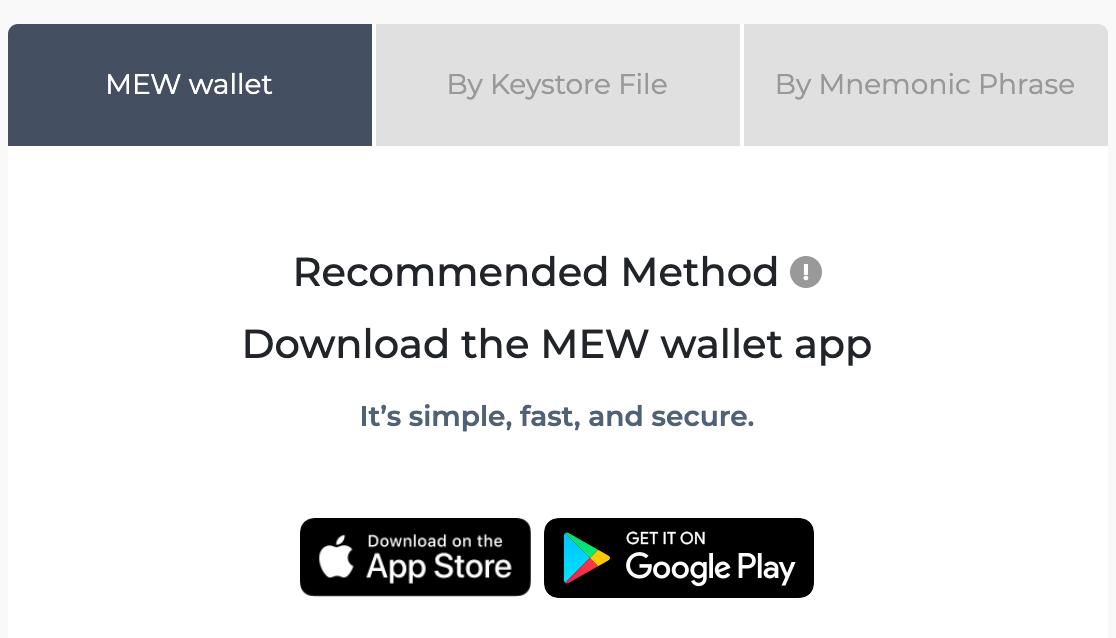 myetherwallet review mobiel aangeraden