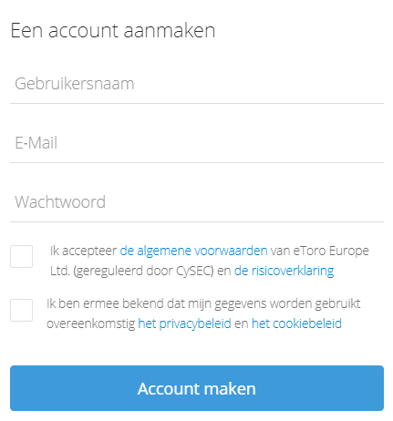 Account aanmaken etoro demo trading