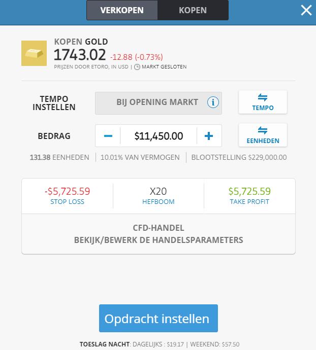 investeren bij trading site