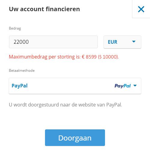 trading account geld storten