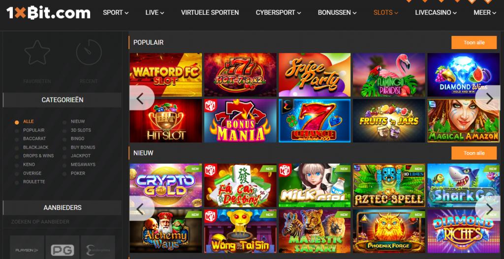 1xbit bitcoin casino gokken