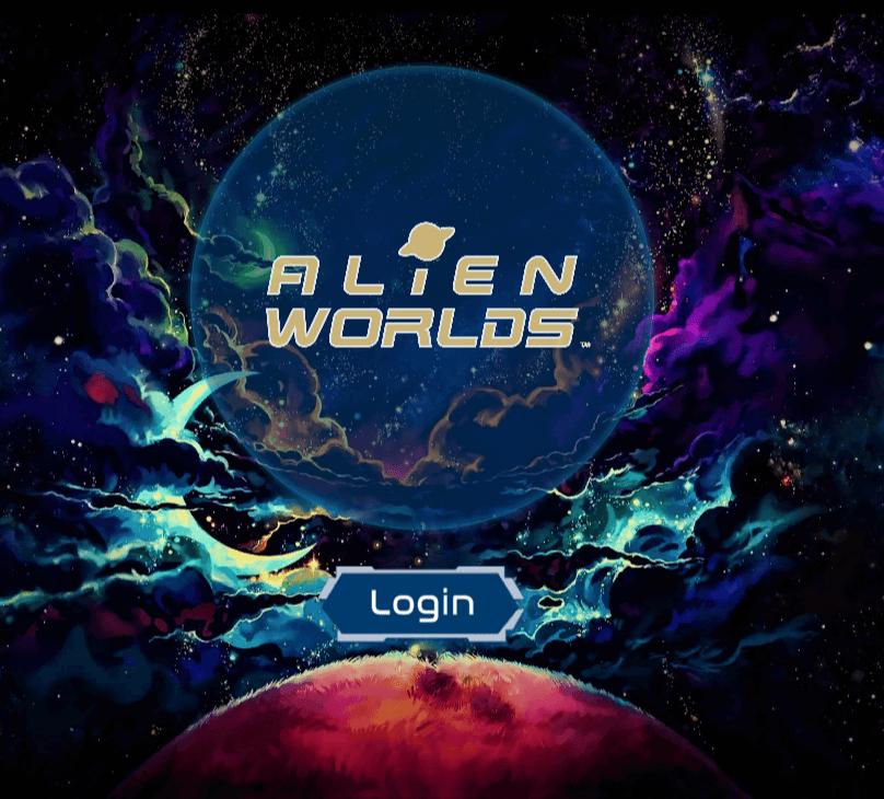 alien worlds login crypto games