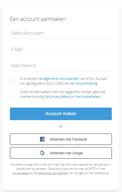 eToro account aanmaken MATIC kopen