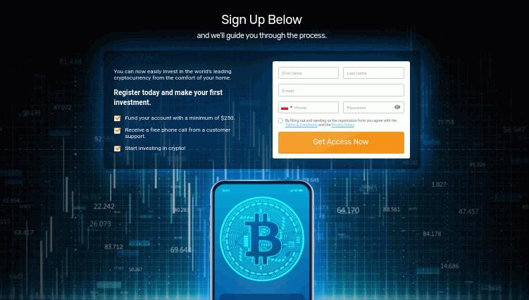 sign up below profit horizon