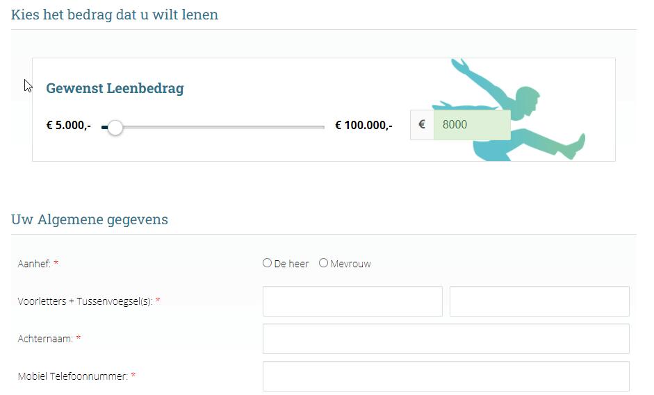 8000 euro lenen zonder bkr toetsing financieel fit