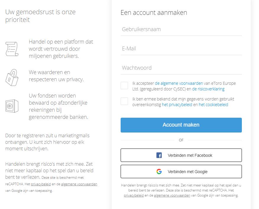 beste stablecoin account aanmaken